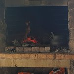 Rustic fire place