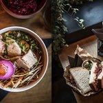 nieramen/ beef pastrami sandwich