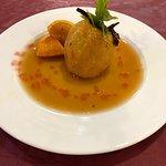 Manzana asada, postre casero para el Menú diario JARDI MAR RESTAURANTE Vilassar de Mar