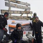 Uhuru Peak, the roof of Africa.