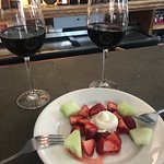 Delicious wine, spectacular service, and a sweet little treat!