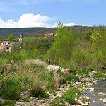 Le Château et le village vue de la rivière.