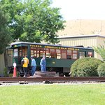 Visitors can take a ride around the museum grounds. On this day they were operating the Edwards Motor Car.