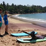 Doing surf class for lovely couple in little surf paradise .... come and enjoy with us
