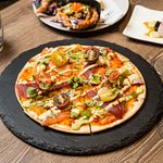 The Sashimi Pizza - An unusual but amazing match!