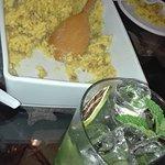 Risotto allo zafferano con salsiccia e mojito