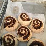 They were making cinnamon rolls!