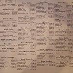 Huge beer menu!