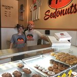 Mike and Brandy, the owners of Sedonuts. Cute couple. Cute place.