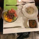 Poké  & Curry lets eat tonight ...