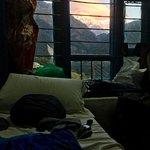 Auf dem Treck: Himalaya-Ausblick vom Bett aus (dank Guide)