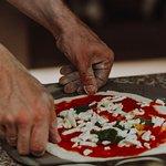 Будущая пицца Маргарита.