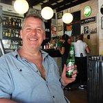 Author enjoying his beverage!