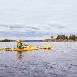 Kayaking around remote islands of Stockholm Archipelago is so amazing!
