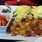fabulous eggs benedict also with smoked salmon if desired