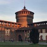 Veduta dall'interno del Castello Sforzesco