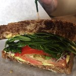 Another tasty sandwich! The sandwich pictures only show a half because we immediately started ch