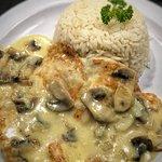 Pollo en crema de hongos / Chicken with mushrooms