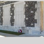 wall with names of missing soldiers