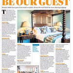 Sunday Times feature as one of the top ten places to stay in the UK 2019