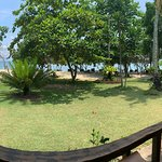 nice bungalow and after the garden is the beach 😊