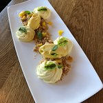 Dessert : Excellent Crumble Coco et Mangue fraîche.