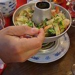 Soupe de crustacés et légumes
