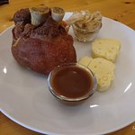 German Pork Knuckle, meat was too dry.