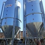 Barley storage tanks