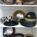 Woven bowls with ceramic, aluminium and clay