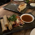 Duck spring rolls - chilli sauce was amazing!