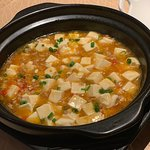 Tofu claypot with bell peppers