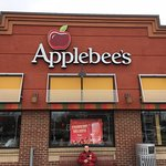 Our first stop at Applebee's