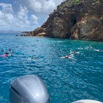 Snorkeling in the caves