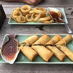 Spring rolls & tempura onion rings