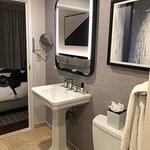 Bathroom.  No counter space or storage