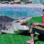 Bujang Lang & his keeper at Crocodylus Pond A