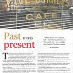 An article about our Diner in Indulge, a Vancouver Magazine Pg1