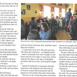 An article about our Diner in Indulge, a Vancouver Magazine Pg4