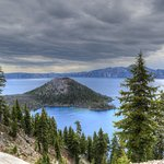 Crater Lake from the drive.
