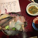The sashimi course