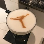 Drink from Micheal Jordan's Restaurant that is connected to the hotel lobby.