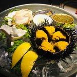Caviar and sea urchin