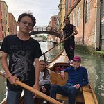 everyone working hard but getting a break to enjoy the stunning canals of canneregio