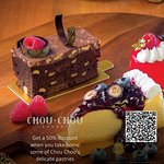 Get a 50% discount when you take home some of Chou Chou's delicate pastries from 19:00 onwards.