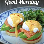 "Chou Chou Deli Shop introducing new eggs breakfast menu ""Egg Benedict"" only THB 220!!! Everyday from 06:00 - 11:00 at Chou Chou Deli Shop."