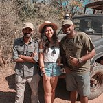 Our driver and Sameera... great to learn from these guys! Thanks for our first safari and spotting the leopard!