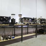 laboratorio para curso de latte art. maquinas de espresso