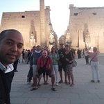 al tramonto del tempio di Luxor