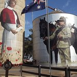 The area in front of the silos has been tranformed into the community's War Memorial.